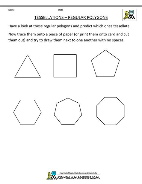 printable shapes for tessellation tessellations in geometry 1