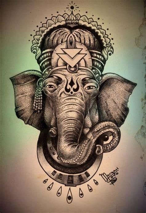 elephant tattoo religion ganesha art print goddesses ink and products