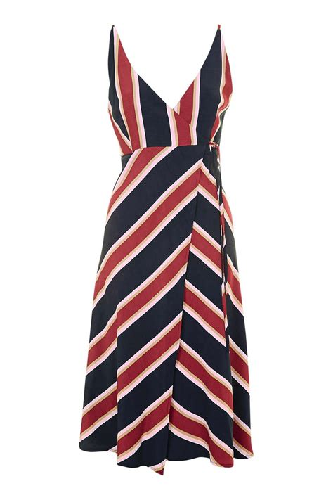 Dress Stripe v striped wrap dress topshop