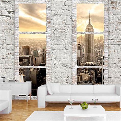 fotomural de ventanas con vista a la ciudad
