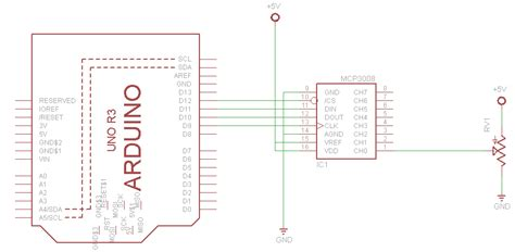 tutorial arduino adc arduino and mcp3008 arduino learning