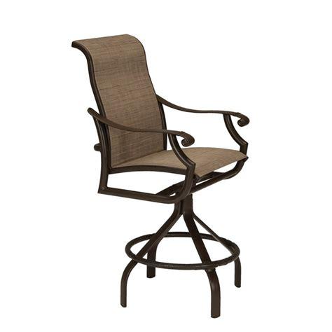padded swivel bar stools tropitone 711227ps 28 montreux ii padded sling swivel bar