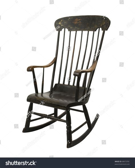 painted chairs images antique painted rocking chair on white stock photo