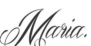 Maria Font Colouring Pages sketch template