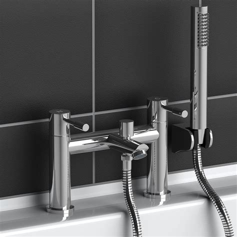 bath tap with shower modern chrome brass monobloc sink bathroom filler bath mixer tap handheld shower