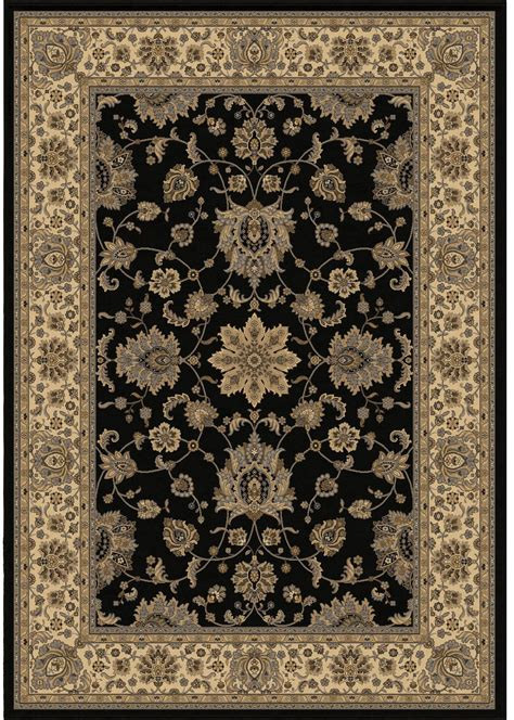 american heirloom borokan black medium area rug from orian
