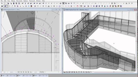 Staircase Design Tool 3dmd polyline rail panel drawing the rail archicad bim