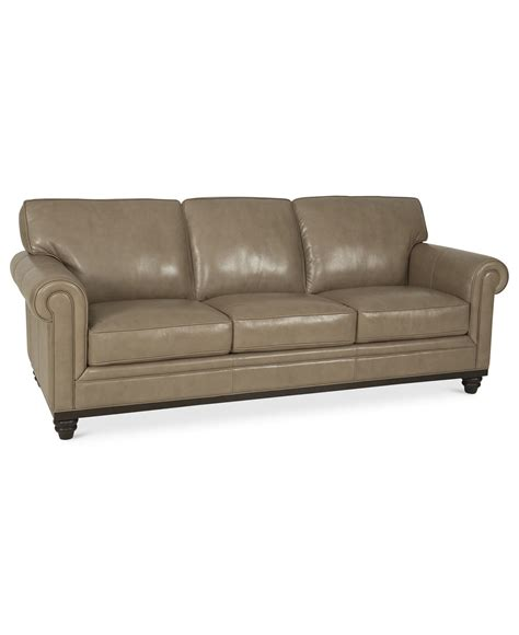 Macy Leather Sofa Martha Stewart Collection Bradyn Leather Sofa Created For Macy S Sofa Furniture Leather
