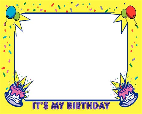 happy birthday photo frame template birthday frames cliparts co