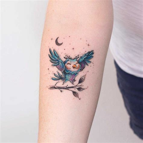 small cute owl tattoos small owl on arm best ideas gallery