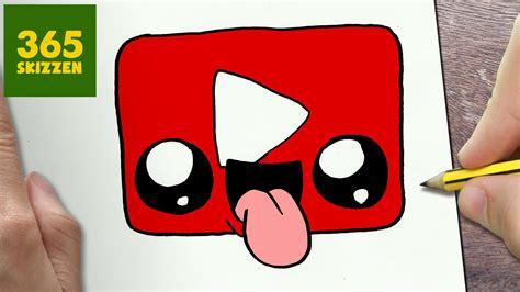 imagenes kawaii youtube wie zeichne man logo youtube kawaii schritt f 218 r schritt
