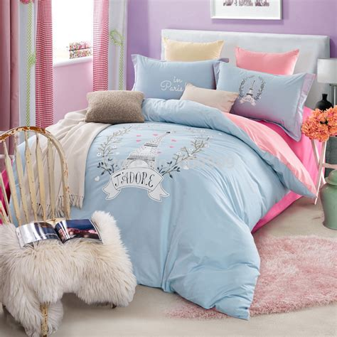 light blue bed set buy tidebuy european style blue cotton 4 piece duvet cover