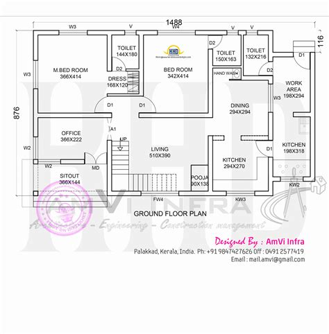 Floor Plan And Elevation Of Modern House Kerala Home Floor Plans And Elevations Of Houses