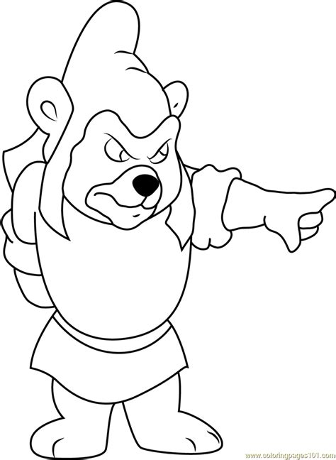 Gumzi Color gummy bears coloring page free disney s adventures of