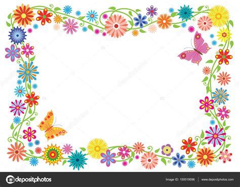 imagenes flores sin fondo marco de verano formada por mariposas y flores de fantas 237 a