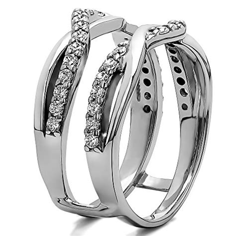 sterling silver criss cross infinity ring guard enhancer