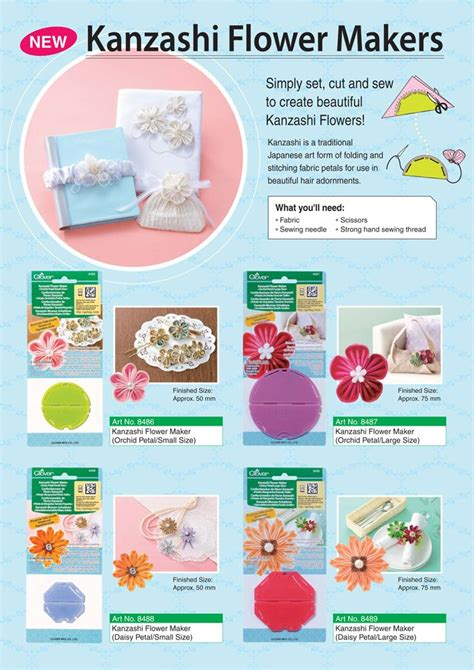 Kanzashi Flower Maker Template 27 best images about flower templates on