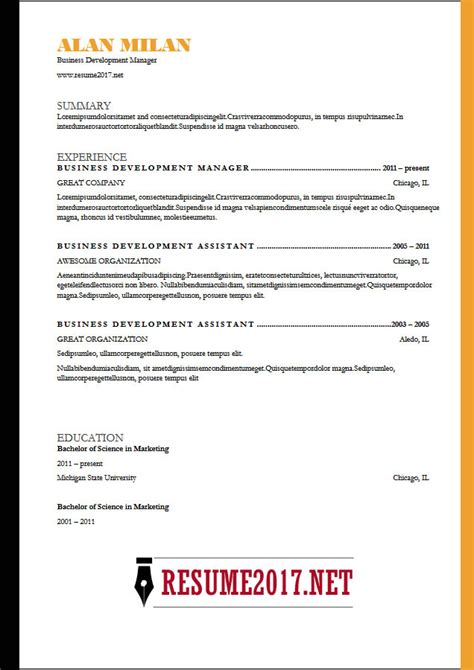 Sle Blue Collar Resume by Sle Targeted Resume Template For Resume 2017
