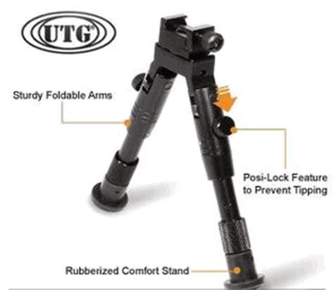 Utg Robot utg bipod swat combat profile adjustable height rubberized stand