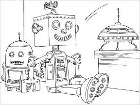 robot coloring pages free printable robot coloring pages for