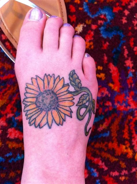 sunflower tattoo designs on foot best 25 sunflower foot tattoos ideas on
