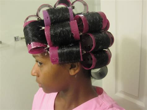 setting hair on rollers mahoganycurls natural hair roller set natural hair care