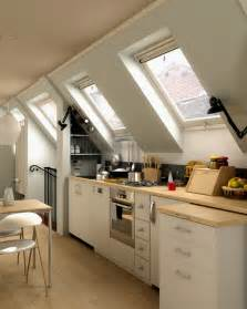interior design attic kitchen