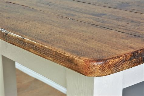 Rustic Bar Top Rustic Farmhouse Breakfast Bar Made From Reclaimed Timber
