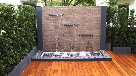 Backyard Feature Wall Ideas by Diy Water Feature Wall Backyard Design Ideas