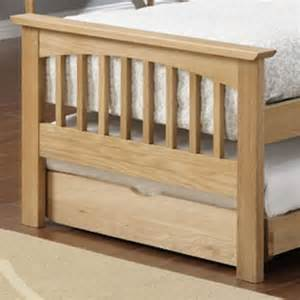 Oak Guest Bed With Trundle Buy Saunton Trundle Bed Oak From Our Guest Beds Range