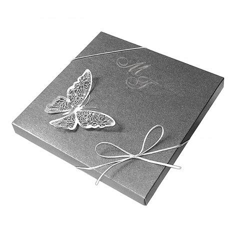Hochzeitseinladungen Extravagant by Exklusive Hochzeitskarte Nr 6 Box In Dunkelgrau Mit
