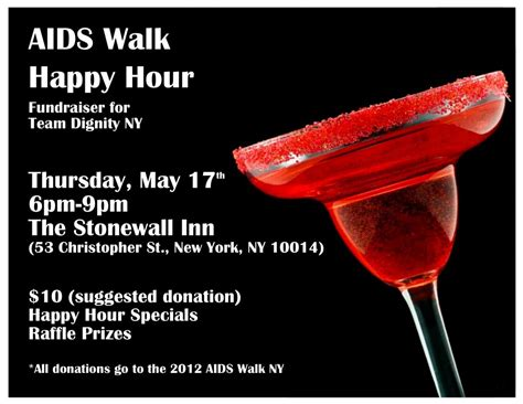 Happy Hour Chambord Walk by Aids Walk Nyc 2012 Dignity New York