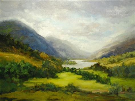 Landscape Paintings Loch Shiel Scotland Landscape Painting