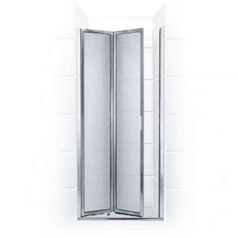Hinged Glass Shower Door Coastal Shower Doors Paragon Series 28 In X 66 In Framed Bi Fold Hinged Shower Door In