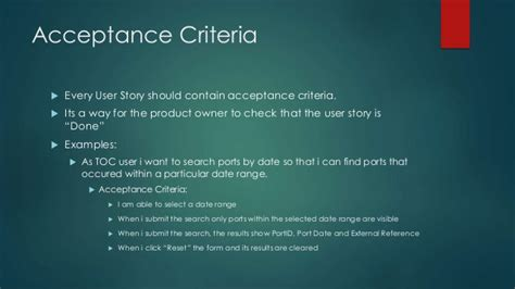acceptance criteria template agile user stories guide