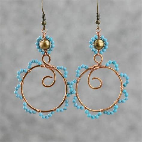 Handmade Earring Design Ideas - copper wiring hoop earrings handmade ani designs