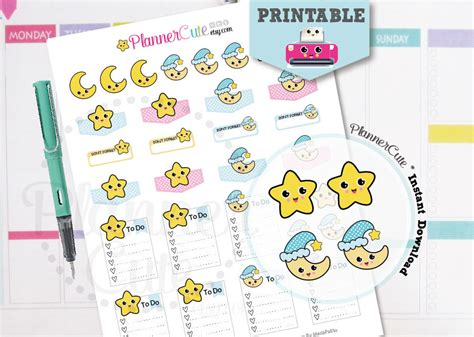 printable kawaii planner stickers free printable kawaii planner stickers by plannercute
