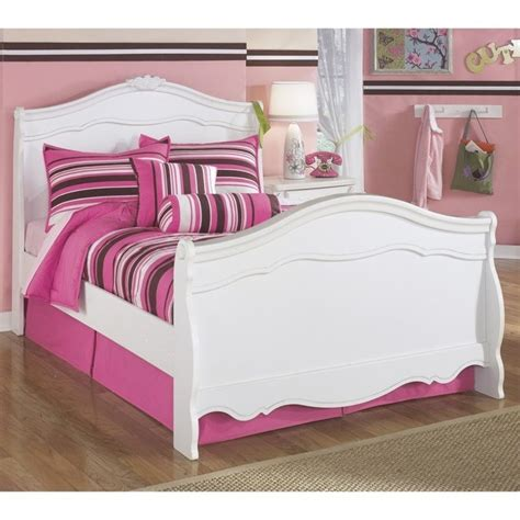 ashley furniture white bed signature design by ashley furniture exquisite sleigh bed