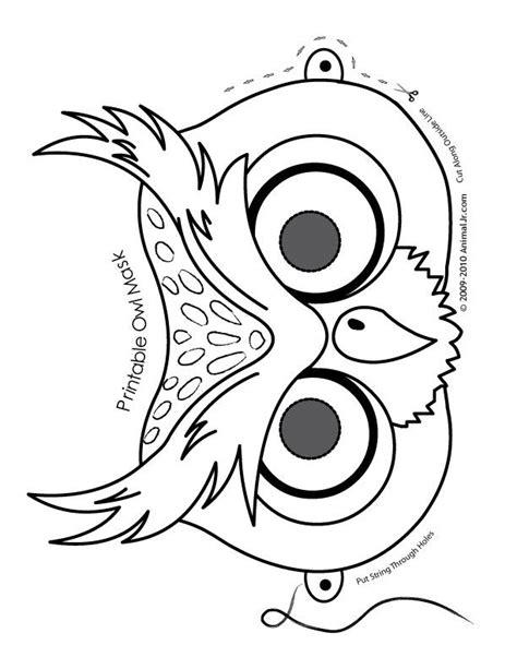 printable animal masks free o is for owl cute printable halloween animal paper masks