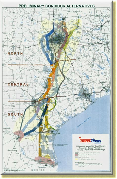 trans texas corridor map trans texas corridor map