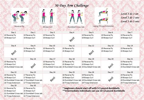 dumbbell challenge fitness challenge 30 arm challenge eunicakes