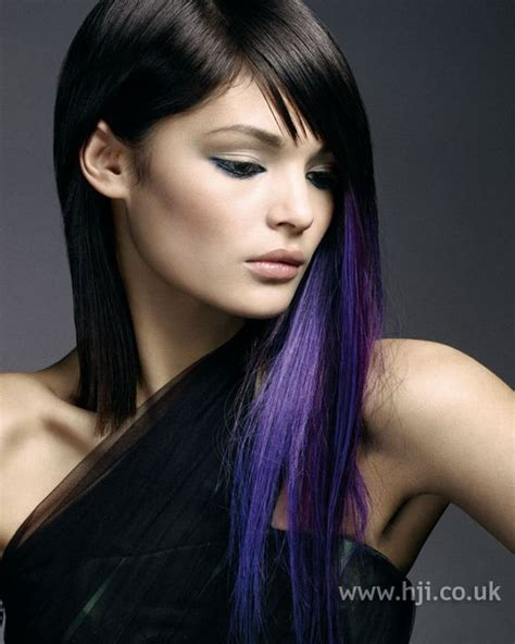 black n purple hair purple streaks underneath dark hair hair pinterest