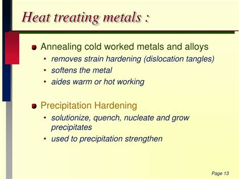 heat treating metals ppt 530 352 materials selection powerpoint presentation