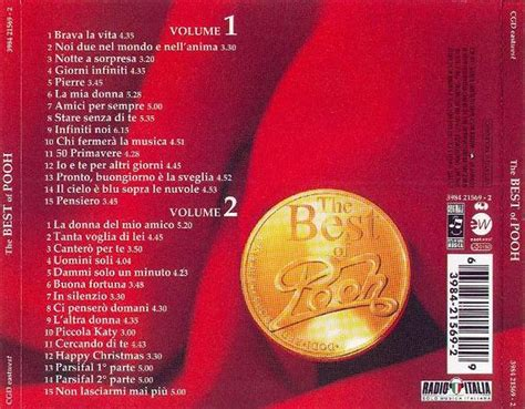 best of the best pooh copertina cd pooh the best of pooh back cover cd pooh