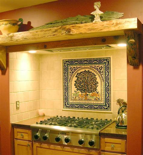 kitchen design tile mural new jersey mediterranean