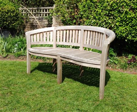 curved wooden bench curved wooden bench in from the vintage garden company