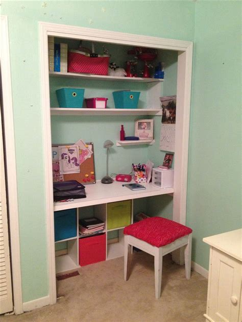 closet desk closet desk for tween closets pinterest extra