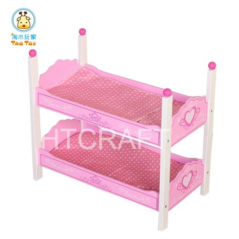 Tb050 Wholesale Butterfly Wooden Doll Bunk Bed With Wooden Doll Bunk Bed