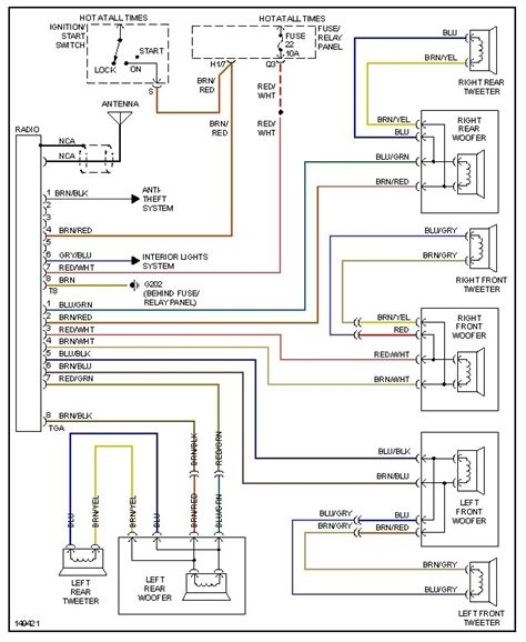 2000 vw jetta radio wiring diagram fuse box and wiring