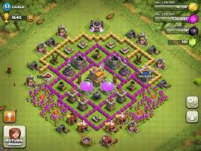 Clash of clans town hall 9 th9 clan war base design layout 2015 stock
